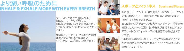 呼吸筋トレーナーiBreahte+ LT350 より深い呼吸のために